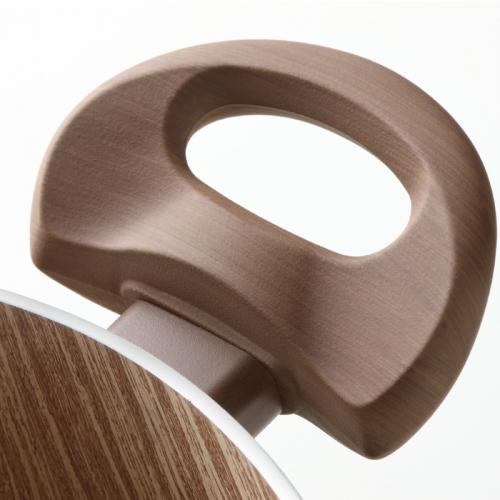 Maniglia effetto legno sulle Pentole antiaderenti di Accademia Mugnano