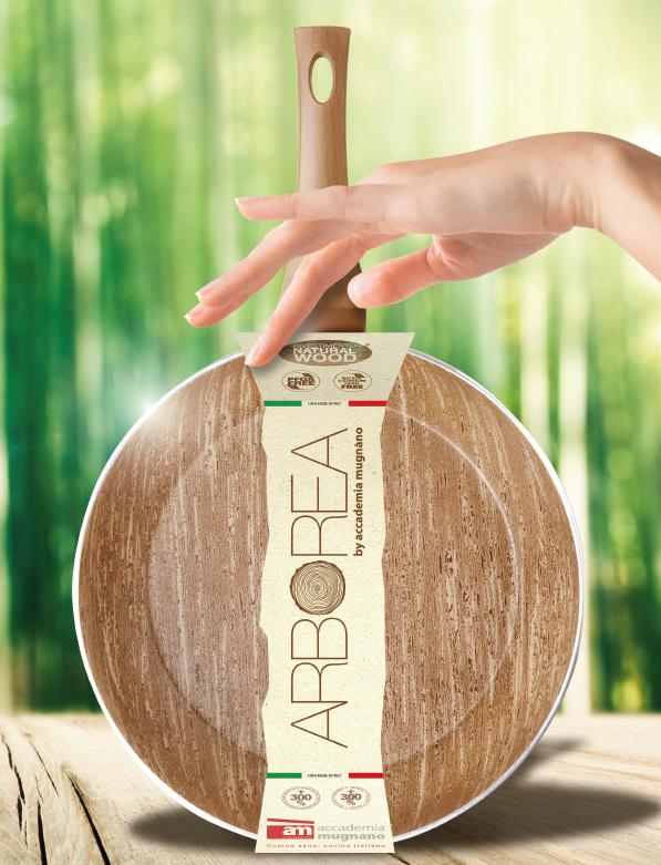 Packaging ARBOREA - l'antiaderente effetto legno di Accademia Mugnano