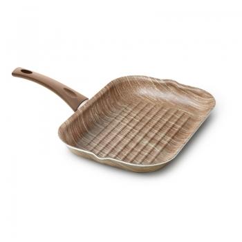 Bistecchiera antiaderente effetto legno di Accademia Mugnano