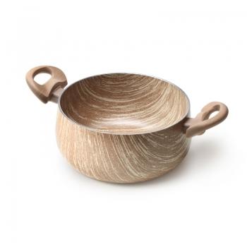 Casseruola antiaderente effetto legno di Accademia Mugnano