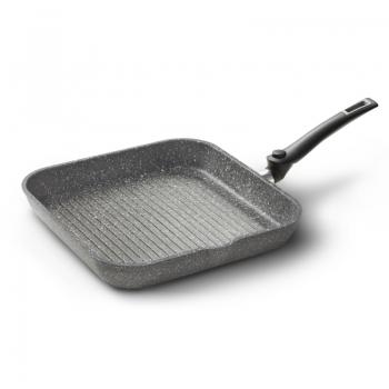 Bistecchiera antiaderente con manico pighevole - Cuore di Pietra SpazioPlus