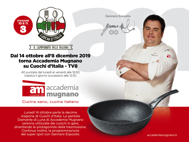 Accademia Mugnano tra i protagonisti di Cuochi d'Italia